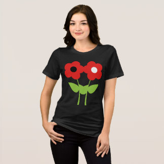 Camiseta Flores vermelhas