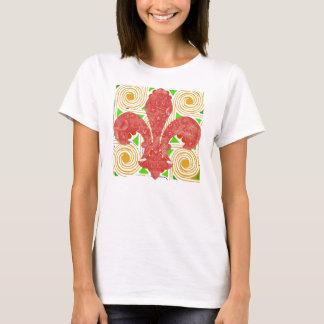 Camiseta Flores vermelhas abstrato, tampa do medidor de