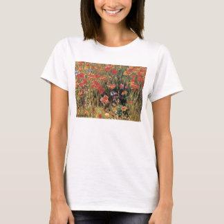Camiseta Flores vermelhas do vintage, papoilas por Robert