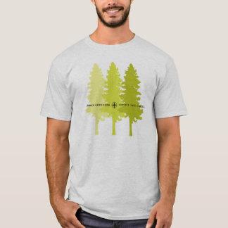 Camiseta Floresta através das árvores