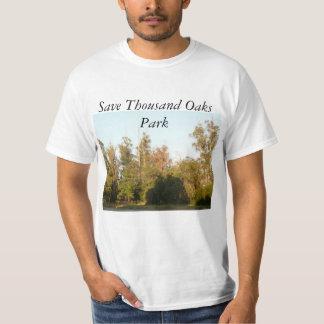 Camiseta Floresta e habitat das economias do parque de