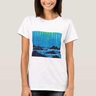 Camiseta Floresta enevoada gigante pelo rio