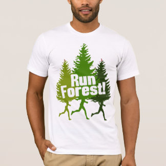 Camiseta Floresta engraçada do funcionamento do Outdoorsman