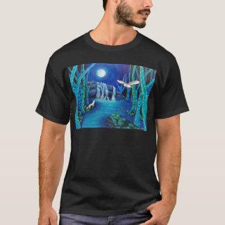 Camiseta Floresta enluarada da fantasia