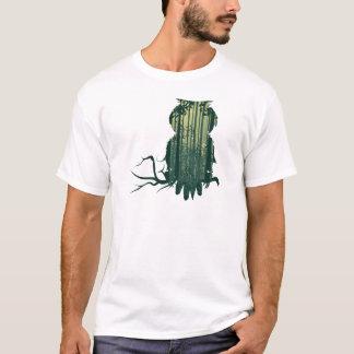 Camiseta Floresta Landscape2 da coruja e do abstrato