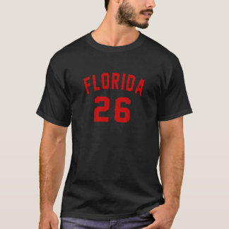 Camiseta Florida 26 designs do aniversário