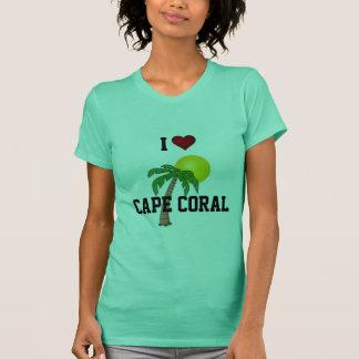 Camiseta Florida: Eu amo a palmeira e o sol corais do cabo