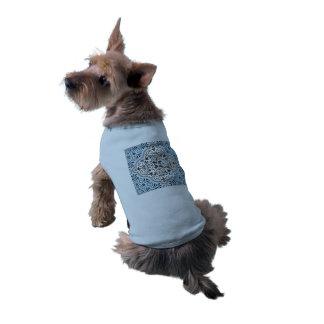 Camiseta Flourish Rococo azul do teste padrão