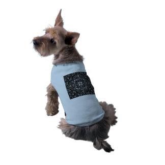 Camiseta Flourish Rococo preto do teste padrão