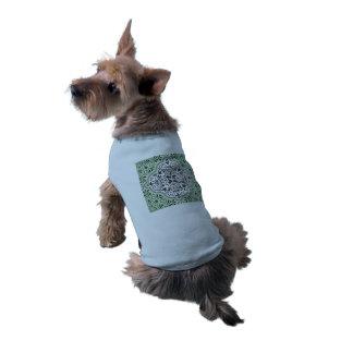 Camiseta Flourish Rococo verde do teste padrão