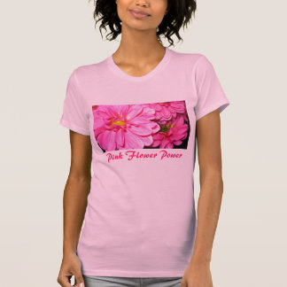 Camiseta Flower power cor-de-rosa