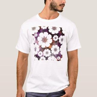 Camiseta Flower power roxo Funky