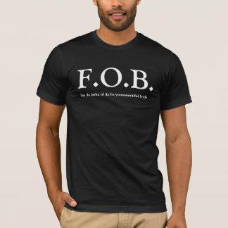 Camiseta FOB - Pai do TShirt do casamento da noiva - preto