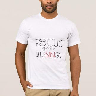 Camiseta Foco em seu desafio inspirado das bênçãos