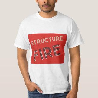Camiseta Fogo da estrutura