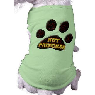 Camiseta Fogo da princesa e camisa quentes do cão da chama