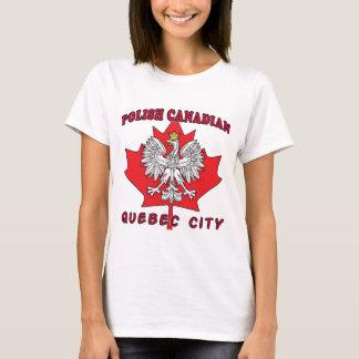 Camiseta Folha canadense polonesa de Cidade de Quebec