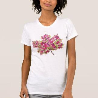 Camiseta Folha colorida abstrata do outono da aguarela