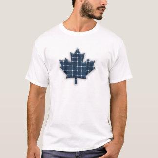 Camiseta Folha de bordo canadense com os painéis solares