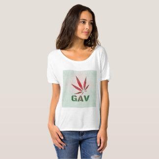 Camiseta Folha vermelha/verde de GAV desvanece-se logotipo