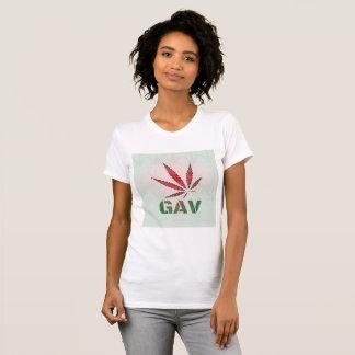 Camiseta Folha vermelha/verde de GAV desvanece-se t-shirt