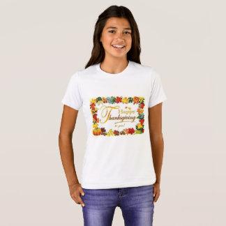 Camiseta Folhas coloridas da acção de graças feliz do