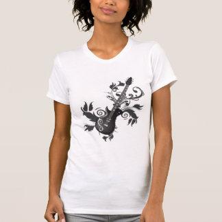 Camiseta Folhas da guitarra elétrica, dos redemoinhos e do