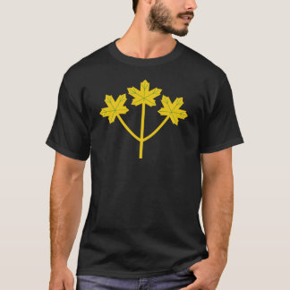 Camiseta Folhas de bordo do ouro de Ontário