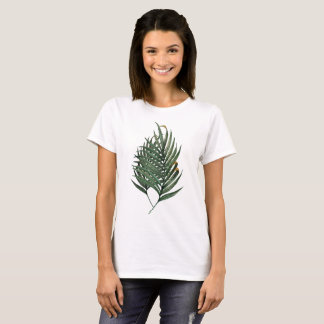 Camiseta folhas de palmeira