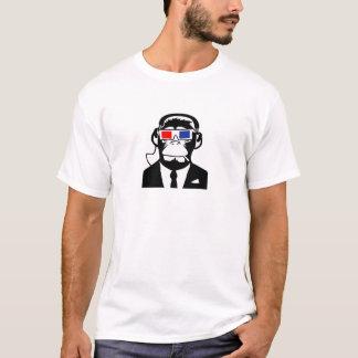 Camiseta fones de ouvido a motor do clube do macaco do