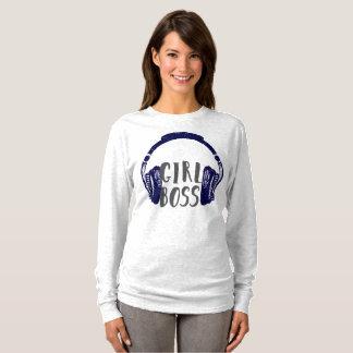 Camiseta Fones de ouvido do chefe da menina