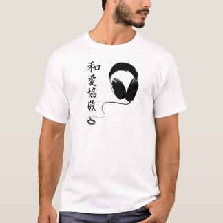 Camiseta Fones de ouvido do Kanji de P.L.U.R