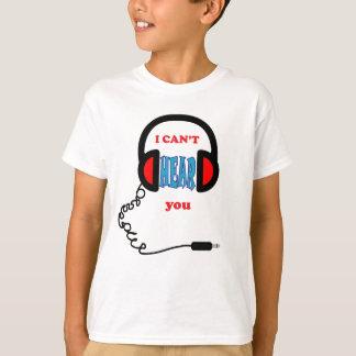 Camiseta Fones de ouvido engraçados da música