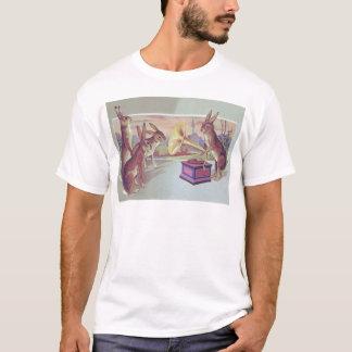 Camiseta Fonógrafo do gramofone do coelhinho da Páscoa