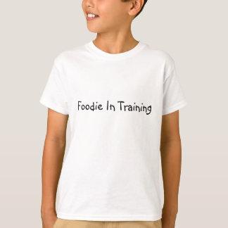 Camiseta Foodie no treinamento