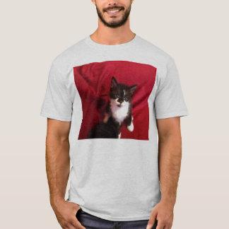 Camiseta Foofy o gatinho com vermelho de veludo