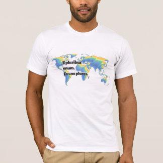 Camiseta Fora de muitos, um. Fora de um, muitos. O t-shirt