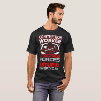 Camiseta Força de luta do trabalhador da construção de