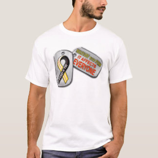 Camiseta Forças armadas com logotipo de PTSD