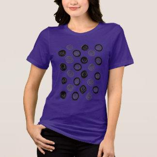 Camiseta Forma/ROXO artísticos das meninas