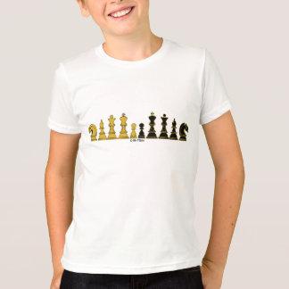 Camiseta Formação da xadrez, o t-shirt do miúdo,