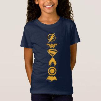 Camiseta Formação estilizado dos símbolos da equipe da liga