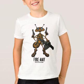 Camiseta Formiga de fogo engraçada com o t-shirt do desenho