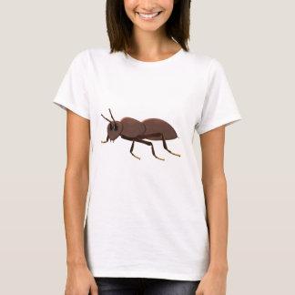 Camiseta Formiga marrom pequena