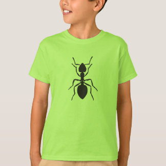 Camiseta Formiga preta - t-shirt dos miúdos
