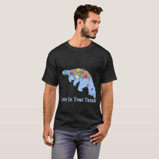 Camiseta Formigas em sua arte azul do animal do Anteater