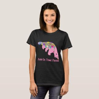 Camiseta Formigas em sua arte rosa pálido do animal do