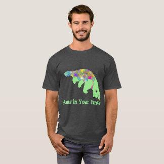 Camiseta Formigas em sua arte verde do animal do Anteater