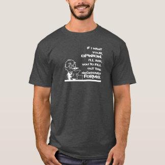 Camiseta Formulários necessários