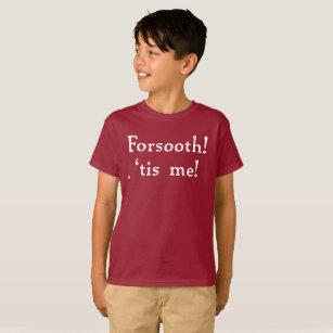 Camiseta Forsooth! T do Tagless dos miúdos (escuro)
